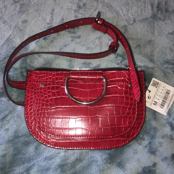 NWT's Zara Red Fanny Pack Adjustable Belt Waist